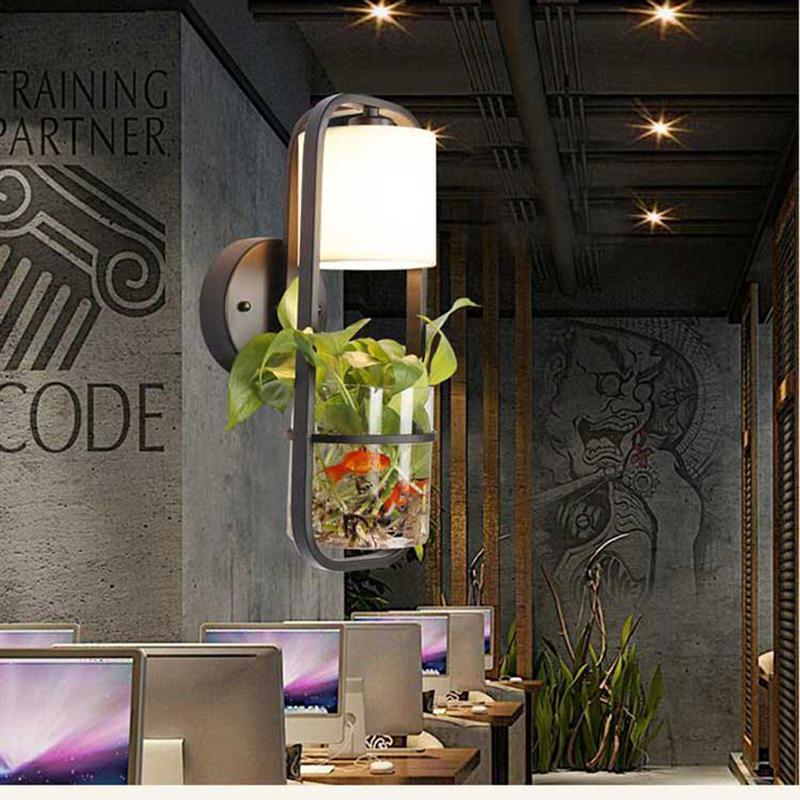 1 X Moderne Schwarze Hängende LED Hause Leuchte Lampenschirm Pflanze  Aquarium Glas Schmücken Für Wohnzimmer Küche Lampe