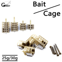 25/30g Small Large Bait Cage Trap Basket Carp Fishing Feeder Bait Thrower Fishing Tools Accessories