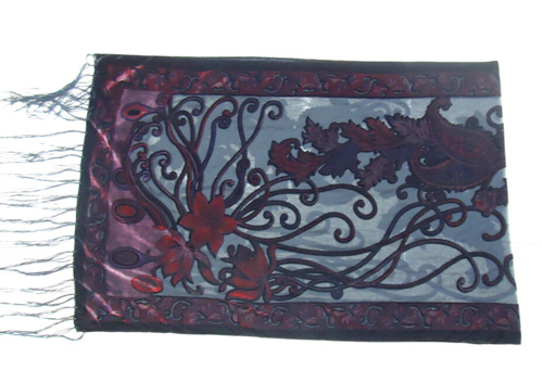 Новые горячие Испания кешью цветы шарфы для женщин выгорания бархат шаль женский весна зима подарок мама, жена - Цвет: wine red