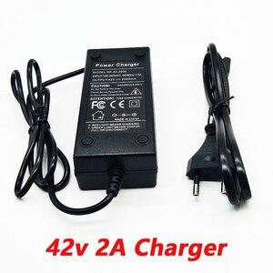 Image 1 - 36 v 2a carregador 10 séries de carregador de bateria de lítio 42 v veículo elétrico carregador de bateria de lítio