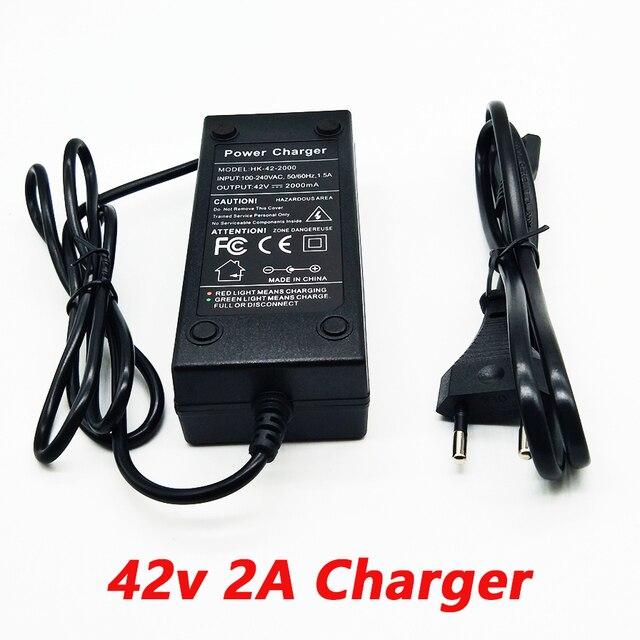 36 v 2a carregador 10 séries de carregador de bateria de lítio 42 v veículo elétrico carregador de bateria de lítio