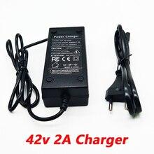 36V 2a ładowarka 10 serii ładowarka akumulatorów litowych 42V pojazd elektryczny ładowarka akumulatorów litowych