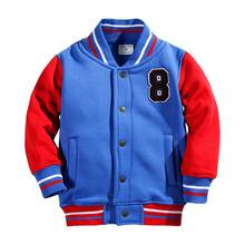 Cotton Baseball Jacket Kids 2T Boys&Girls' Outerwear&Coats Winter Jackets for Girl With Buttons Preppy Style Jackets For Boys reima jackets 8689577 for girls polyester winter fur clothes girl
