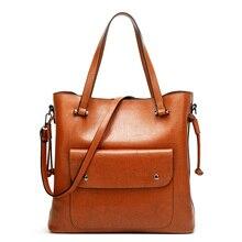 Vintage Women Messenger Bags With Pocket Large Capacity Shoulder Tote Famous Designers PU Leather Handbags