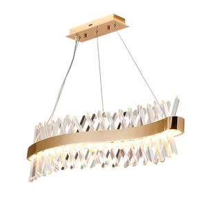 Image 1 - Wave design lungo lampadario di cristallo HA CONDOTTO LA lampada AC110V 220V lustro di cristallo kronleuchter bar illuminazione domestica luce