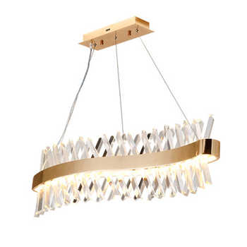 wave design long crystal chandelier LED lamp AC110V 220V lustre cristal kronleuchter home lighting bar light - DISCOUNT ITEM  16% OFF All Category