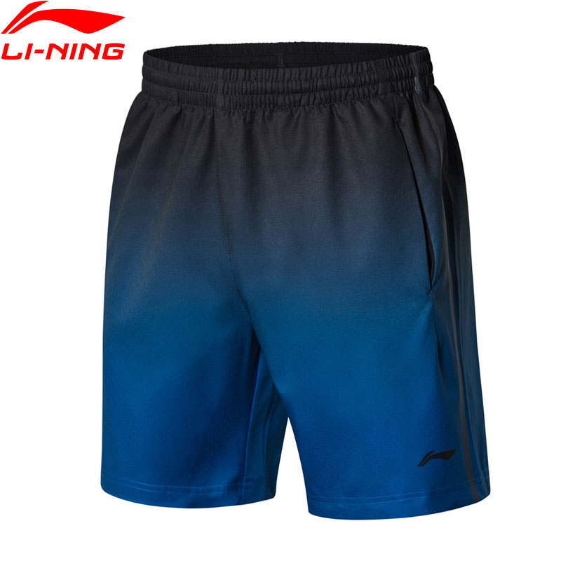 Li-Ning Men's Badminton Shorts 91.1% Polyester 8.9% Spandex Breathable Competition LiNing Sports Shorts AAPN261 MKD1583 outdoor sports fitness polyester spandex tight shorts for men black xl