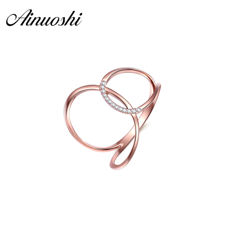 все цены на AINUOSHI 18k Solid Yellow Gold Wedding Rings 0.033ct Round Real Diamonds Rose Gold Jewelry for Women Wedding Engagement Rings онлайн