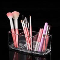 New Clear Acrylic Cosmetic Brush Makeup Organizer Case Storage Holder Box