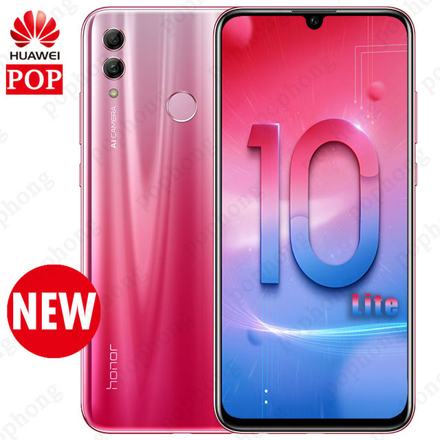 New Arrival Huawei Honor 10 Lite Smartphone 5.65 inch 2160*1080 Octa Core Mobile Phone 4 Cameras Fingerprint