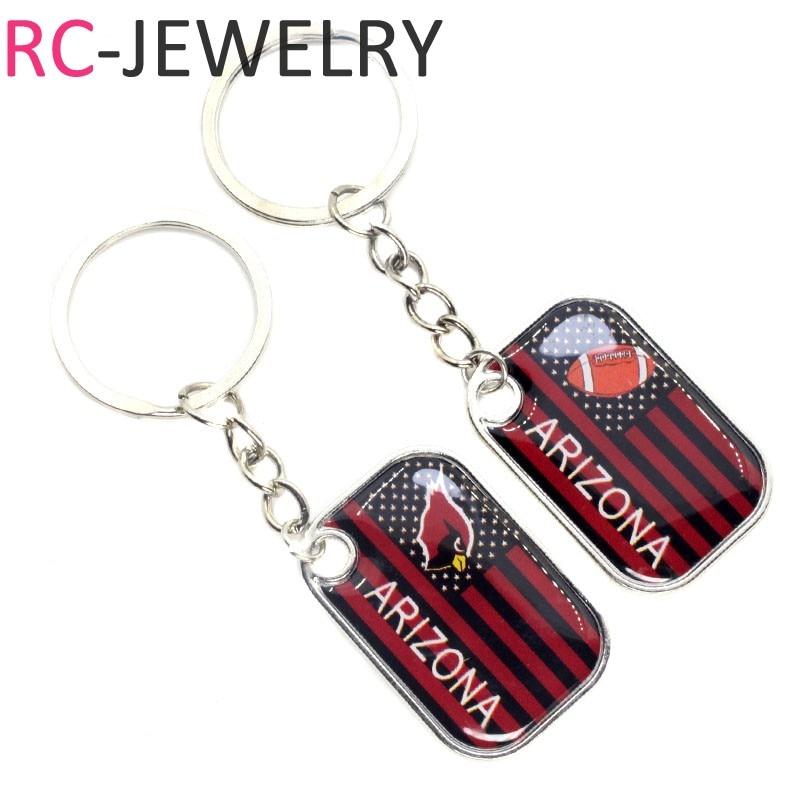 Arizona Cardinals Football sport Keychains Keyring Jewelry Gifts America Football keychains charms