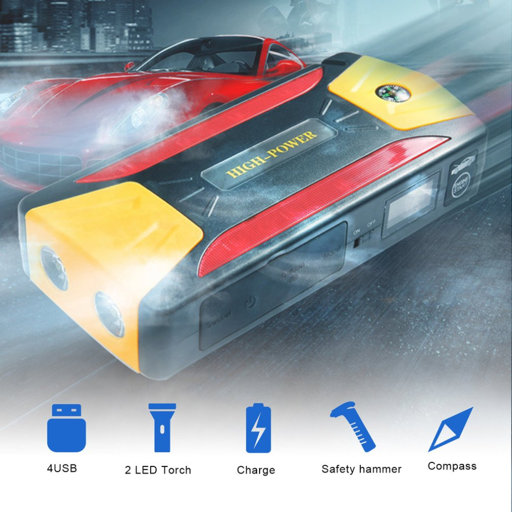 Car Jump Starter Battery 82800mAh Portable Booster with USB Power Bank LED Flashlight for Truck Automobiles Boat Hot Sale
