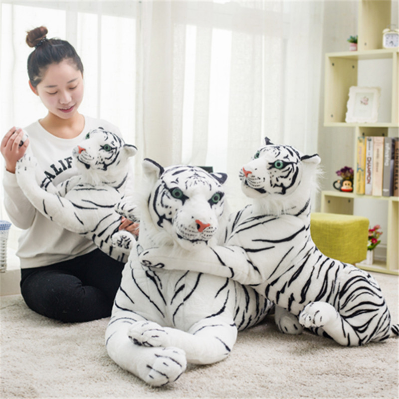 Funny Simulation Plush Tiger Dolls Soft Stuffed Cute Tiger Animal Plush Toy Gifts for Kids and Girlfriend stuffed animal 120 cm cute love rabbit plush toy pink or purple floral love rabbit soft doll gift w2226