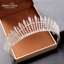 Luxury Wedding Bridal Crystal Tiara Crowns Princess Queen Pageant Prom Rhinestone Veil Headband Hair Accessory
