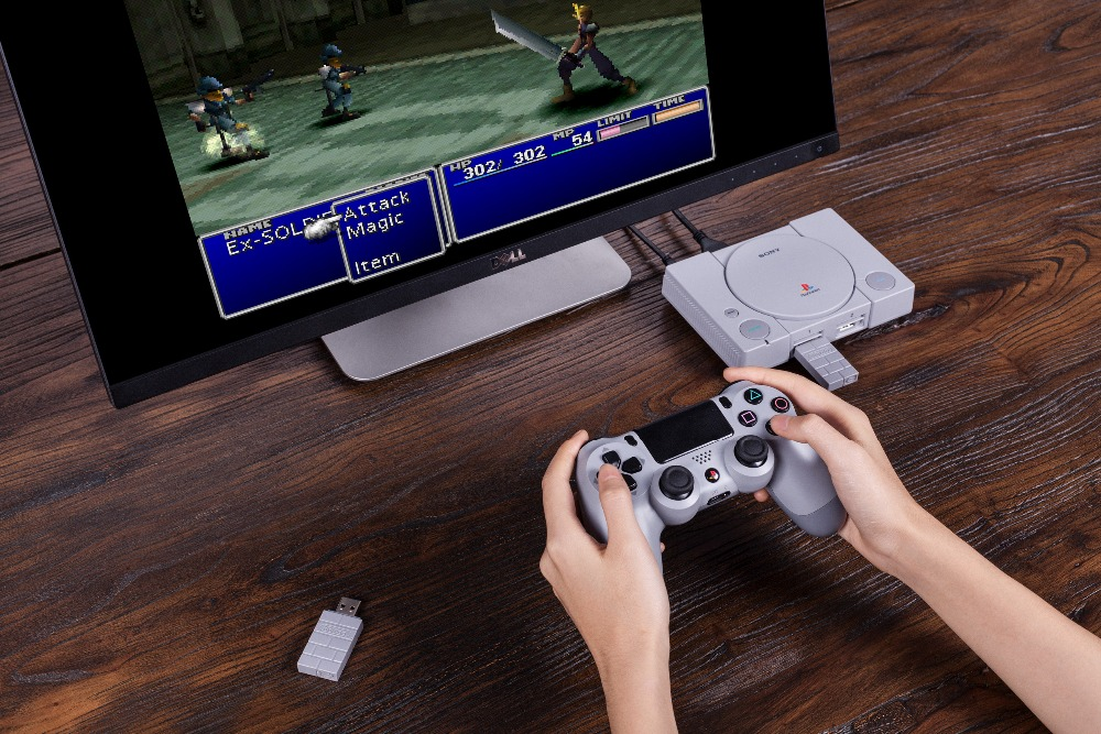 8BitDo USB Wireless Bluetooth Adapter for PlayStation Classic Console PS1 Mini support PS4 controller 10