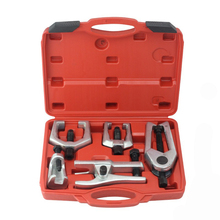 5pcs Front End Service Tool Kit Ball Joint Tie Rod Set Ball Head Puller Set Car Lower Rocker Ball Head Extractor стоимость