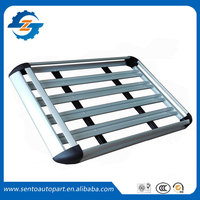 Aluminum alloy 127*100cm Double deck Universal luggage rack Basket for universal car have roof rack with gap
