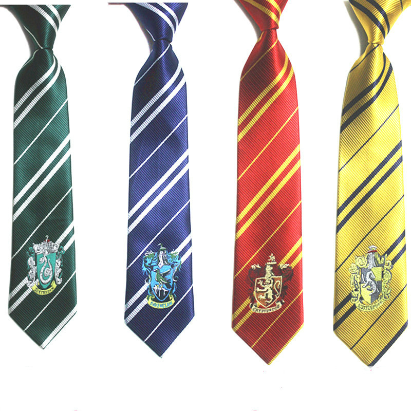 Potter Necktie ties Gryffindor/Slytherin/Hufflepuff/Ravenclaw Necktie ties Cosplay Costumes