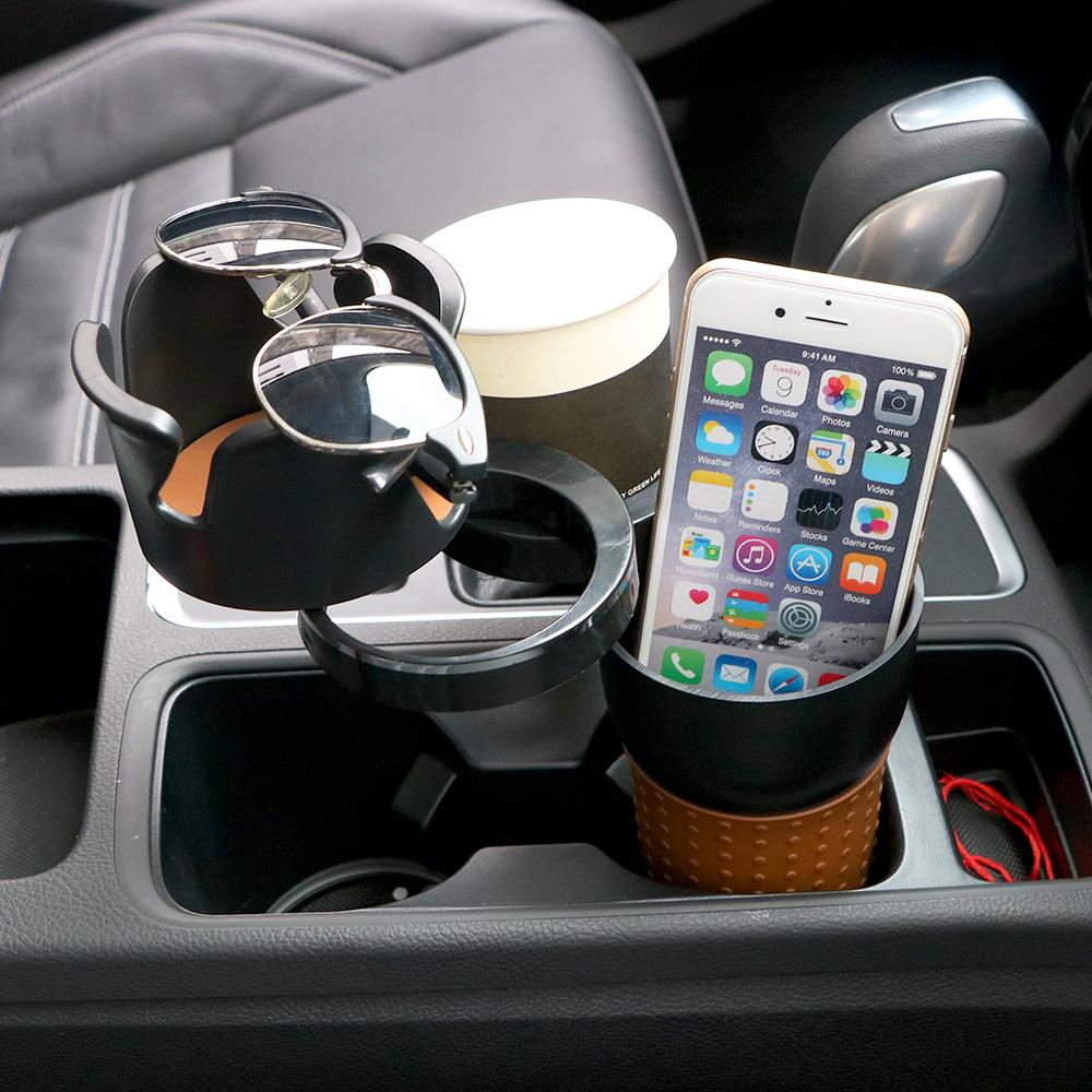 HTB1HUV9cx9YBuNjy0Ffq6xIsVXau - Car-styling Car Organizer Auto Sunglasses Drink Cup Holder Car Phone Holder for Coins Keys Phone Stand Interior Accessories