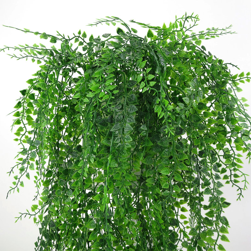 Image 3 - 82cm Artificial Green Plant Vines Wall Hanging Fake Leaves Plant for Home Garden Decoration Simulation Orchid Fake Flower Rattan-in Artificial & Dried Flowers from Home & Garden