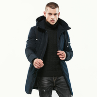 2017 Men's Solid Casual Parkas Hooded Brand New Winter Blue Black Army green Thicken Jacker Men Parkas Overcoat High Quality