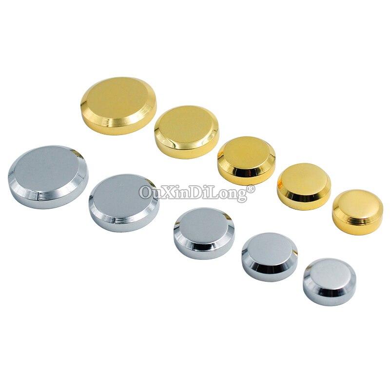 Haute qualité 50 pièces en laiton massif publicité ongles acrylique panneau d'affichage en verre miroir ongles vis bouchons matériel décoratif or