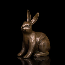 Bronze art crafts  business gifts feng shui Chinese zodiac rabbit bronze statue Free Shipping