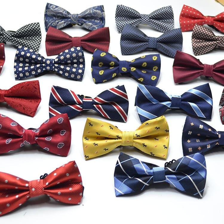 Bowtie Men Formal Dot Stripe Necktie Boy Men's Fashion Business Wedding Bow Tie Male Dress Shirts Krawatte Legame Gift 60colors