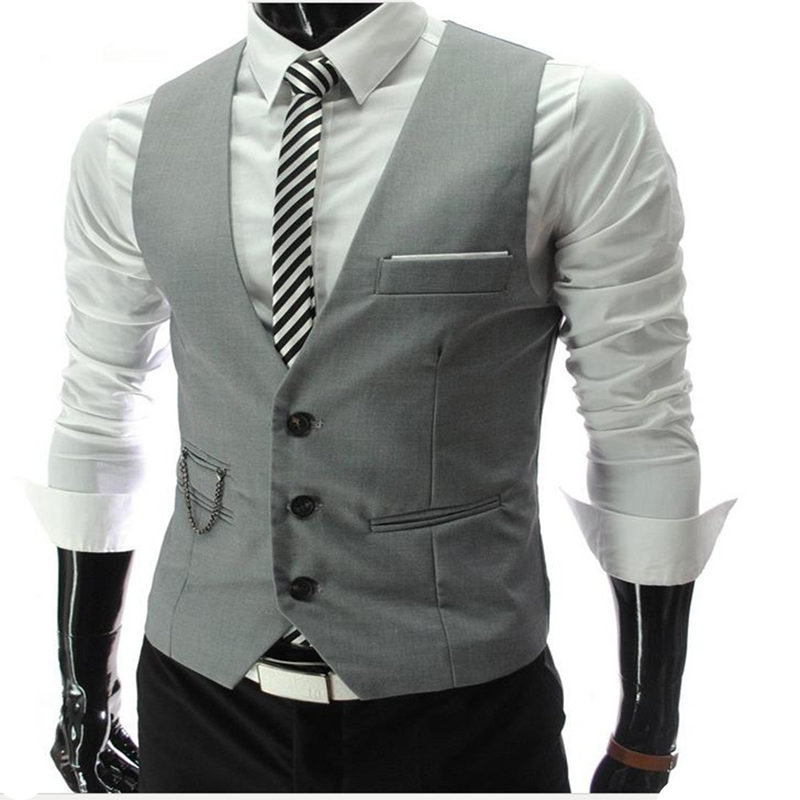 2017 New fashion Men's Casual Slim Suit Vest wedding banquet gentleman And Custom made  gentleman style Men's vest