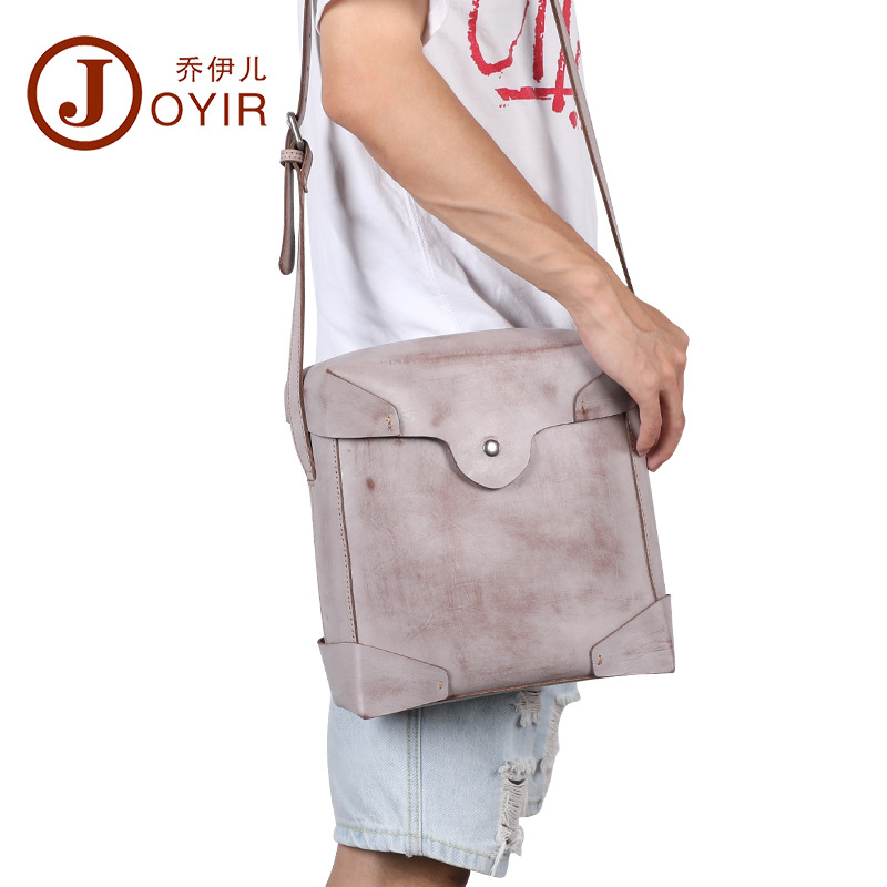 Joyir fashion Korean men shoulder bag genuine leather vintage solid color man messenger bag leisure wearproof crossbody bags Joyir fashion Korean men shoulder bag genuine leather vintage solid color man messenger bag leisure wearproof crossbody bags