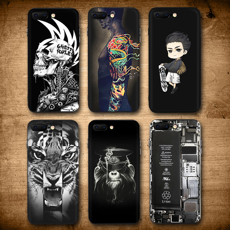 Fashion Cool Skull Tiger Case for iphone 6 6S S plus Dragon Tatoo Skate Boy Broken Matte Hard Plastic Cover for iphone 6 Cases