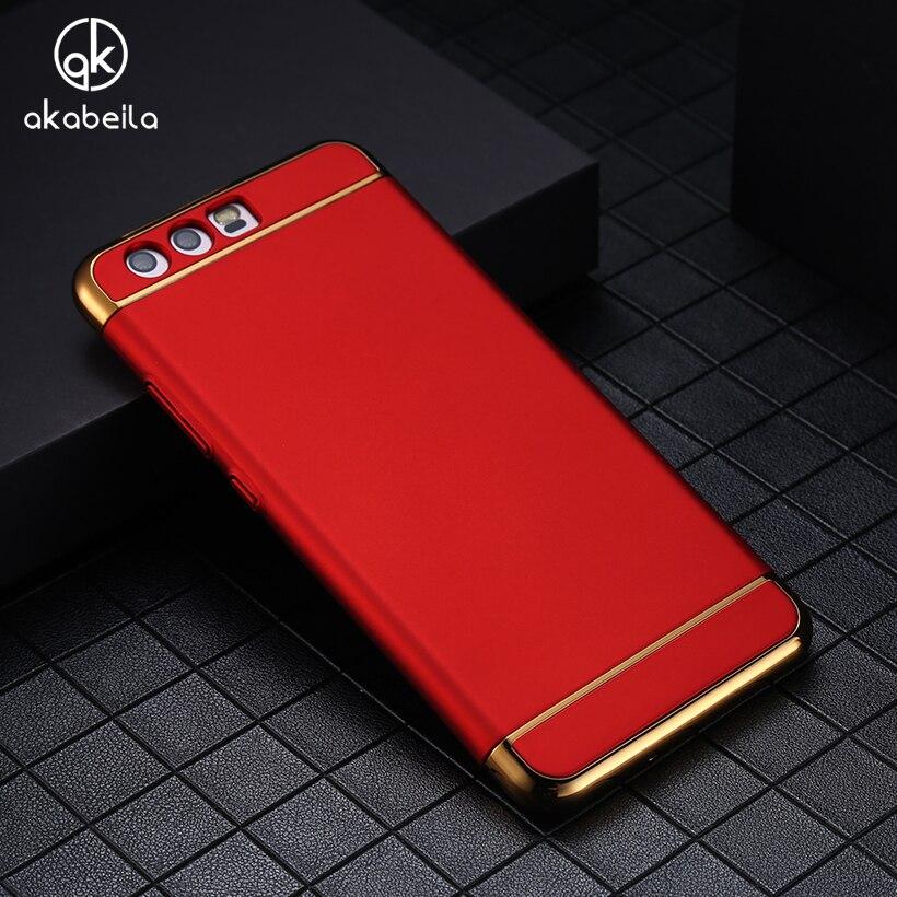 AKABEILA Plating Plastic Case Cover For Huawei P10 Victoria VTR-L09 VTR-L29 VTR-AL00 VTR-TL00 4G LTE Case Phone Bag Plating