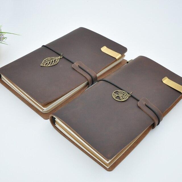 Maotu Vintage Lederen Notebook Dagboek Travel Journal Planner Schetsboek Agenda DIY Refill Papier School Verjaardagscadeau