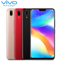 VIVO Y85 Mobile Phone 6.26 inch Full Screen 4GB RAM 64GB ROM Snapdragon 450 Octa Core Android 8.1 Dual Camera 3260mAh Smartphone