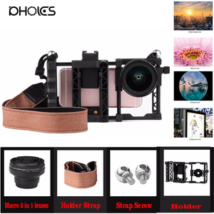 100% New Professional HD Cell Phone Camera lens Kit for iPhone 8 7 6s 6 xiaomi redmi note 4 Samsung Galaxy S8 S8+