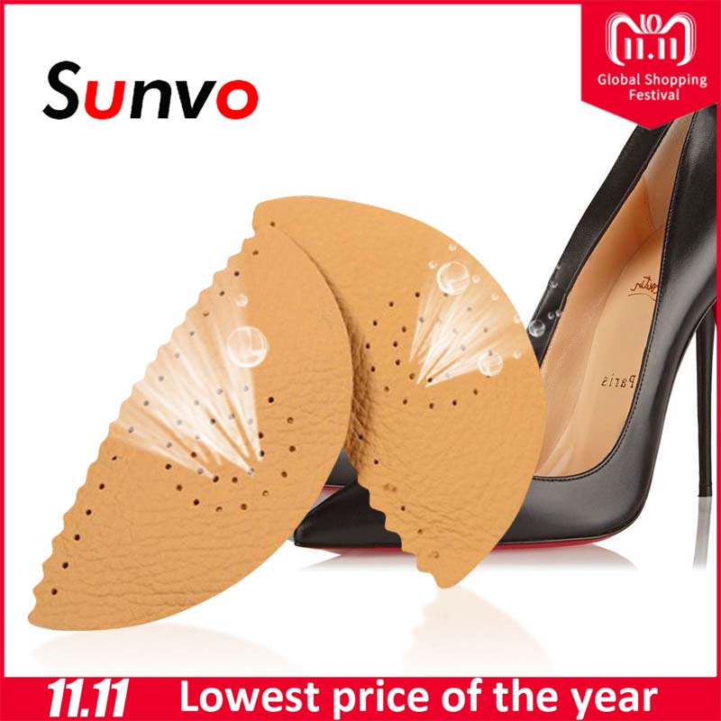 Sunvo Leather Arch Support Pads for Flat Foot Heel Orthotic Insoles Pain Relief Orthopedic Corrector Cushion Shoes Pad Inserts sunvo 3d silicone gel orthotic insoles for flat feet arch support massage plantillas fascitis shoes pad foot pain relief insole