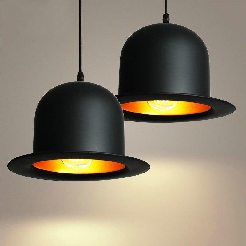 Chapeau forme Tom instrument de musique pendentif lumière petite vintage restaurant lampe bar pendentif lampes pour la vente en gros fournisseur