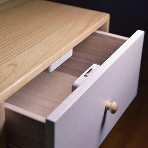 Image 2 - New Youpin YEELOCK Smart Drawer Cabinet Lock Keyless Bluetooth APP Unlock Anti Theft Child Safety File Security Drawer switch