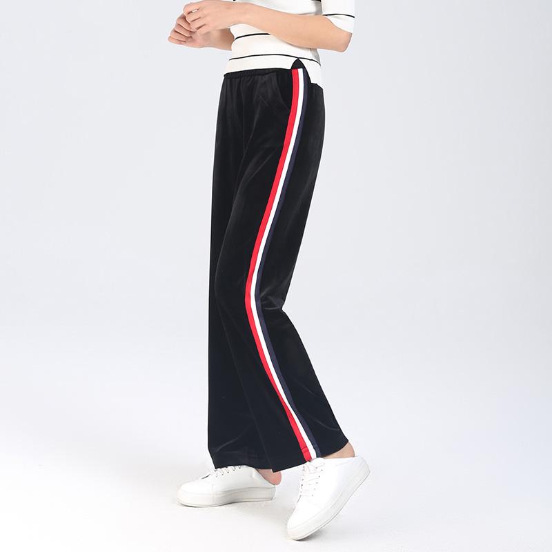 113ca197f44 YERAD urząd Lady wiosna szerokie nogawki spodnie w paski długość kostki  czarne spodnie kobiety formalne wysokiej talii luźne PalazzoUSD 32.99 piece