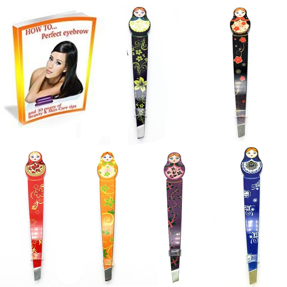 Free shipping Eyebrow Tweezers cosmetic tweezers Russian doll tweezers wholesales 24 pcs/lot