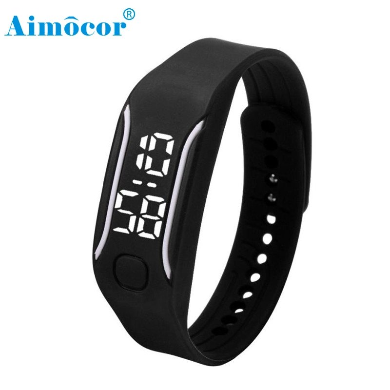 2017 Newly Designed HOT 10 Color Fashion LED Sports Running Watch Date Rubber Bracelet Digital Wrist Digital Wristwatches#126