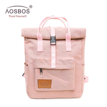 Aosbos Fashion Portable Nylon School Backpacks Candy Color G