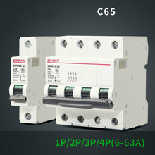 Small-sized Circuit Breaker C65 Current Limit High-end Product 1P 2P 3P 4P 6A 10A 20A 25A 32A 50A 63A mcb Mini switch Delay DZ47
