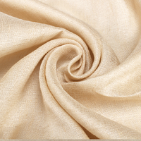 Beige yellow color natural fabric silk linen blended fabric for summer,SLN175