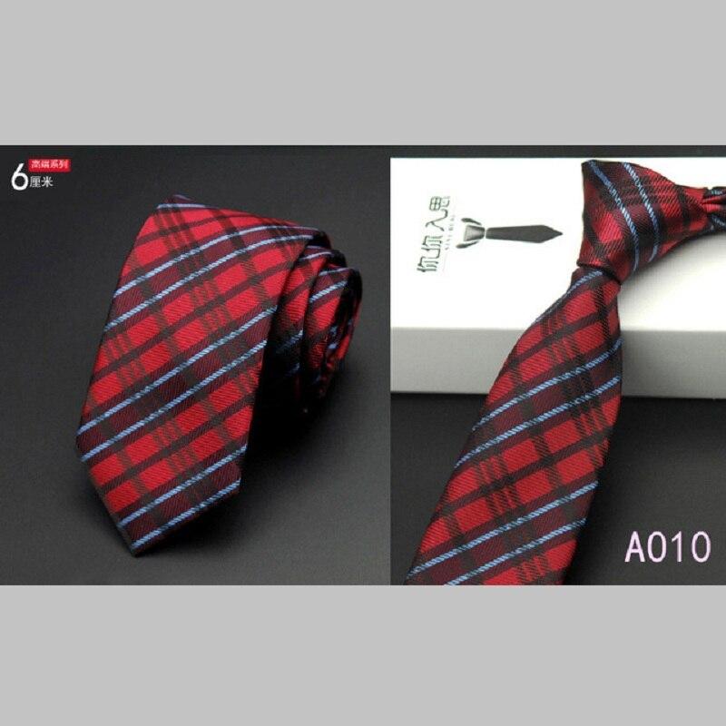 Pánské formální tenké štíhlé pruhované kravaty 6cm hubená strana obchodní kravaty