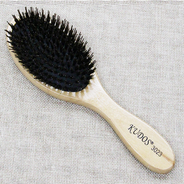 Cushion Boar Bristle Wood Hair Brush In Classic Design, Barber Hairstyling Wooden Paddle Brush K-2302 Anti Heat Popular In Salon
