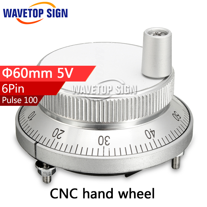 free shipping Cnc pulser handwheel 5V 6pin pulse 100 Manual Pulse Generator hand wheel CNC machine 60mm rotary encoder цены