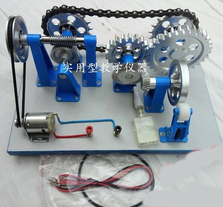 Modèle de transmission mécanique électrique et manuel type lycée physique expérience instrument d'enseignement