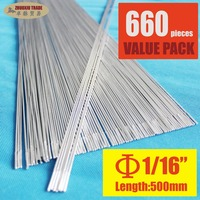 Pack Of 660 Aluminum Brazing Rod Wire Electrode 1 6x500mm 1 16 For Case Aluminum Weld