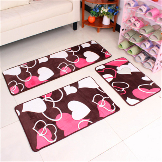 3pcs 40x60cm 50x80cm 40x120cm C Fleece Memory Foam Bathroom Rug Washable Kitchen Non